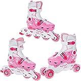 3en 1Rollers en ligne triskate patin à roulette Enfants femme fille Balloon pointure réglable Croxer