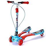 SJYDQ El Columpio Plegable Vespa Scooters Kick Wiggle Self propulsar Speeder Deportes al Aire Libre con Manillar Regulable en Altura for Niños/Niña/Niños (Color : Red)