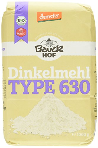 Bauckhof Dinkelmehl hell T630 Demeter, 4er Pack (4 x 1 kg)