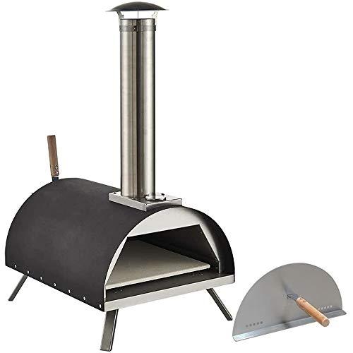 none brand DayByDay Pizzaofen für den Außenbereich, 33 cm, Holzbefeuerter Pizzaofen mit Pizzastein, Edelstahl für Zuhause, Gargen, Grillen, Picknick