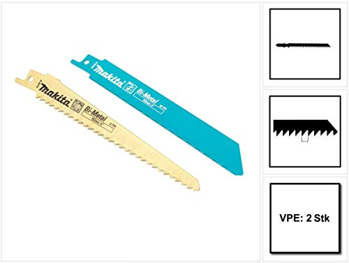 Preisvergleich Produktbild Makita 2er Pack Sägeblätter für Reciprosäge Säbelsäge JR 3050 3060 3070 BJR 181 182 BJR 181