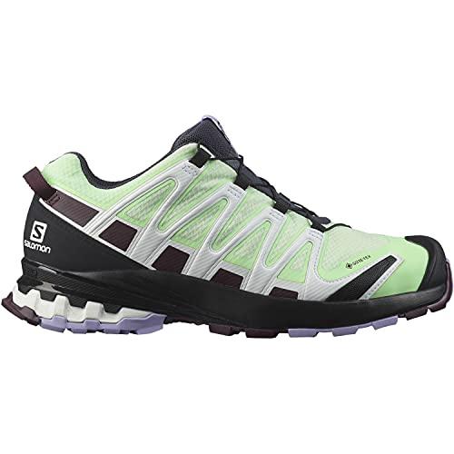Salomon XA Pro 3D V8 Gore-Tex (impermeable) Mujer Zapatos de trail running, Verde (Patina Green/Wine Tasting/Lavender), 38 EU