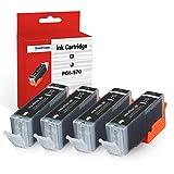 SMARTOMI 4PK PGI-570 XL CLI-571 XL Compatible Ink Cartridges Multi-Pack Canon pgi-570 Black cli-571 CMY Ink for used with CANON Pixma MG5750 MG5751 MG5752 MG5753 MG6851 MG6850 MG7750 Printer