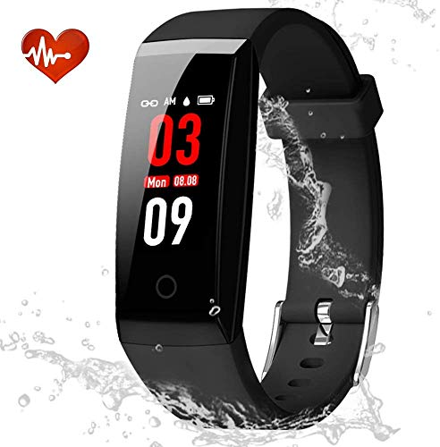 DOOK Fitness Tracker IP67 Waterproof Environmental Sport Smart Watch Multiple Motion Modes Activity Tracker with HR, BP, Calories, Pedometer, Sleep Monitor, Remind Call/SMS, Best for Man Women & Kids