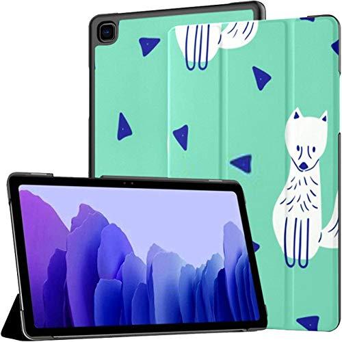 Funda para Samsung Galaxy Tab A7 Tablet de 10,4 Pulgadas 2020 (sm-t500 / t505 / t507), Patrón Infantil sin Costuras Cute Fox Creative Funda de Soporte de múltiples ángulos con activación/suspensión