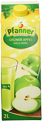 Pfanner Grüner Apfel Getränk 40%, 6 x 2 l Packung