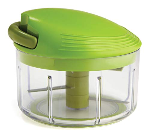 Kuhn Rikon Pull Chop Chopper/Manual Food Processor with Cord Mechanism, Green, 2-Cup