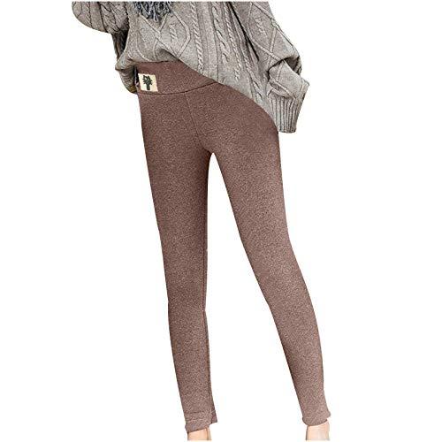 Vexiangni Leggings para niña, elásticos, largos, hasta el tobillo, leggings térmicos, supergruesos, extra gruesos, cachemira, niños, térmicos, invierno, gruesos, con forro, Vino #G21, 4XL