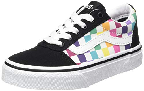 Vans Mädchen Ward Canvas Sneaker, Party Check Multi Schwarz, 38 EU