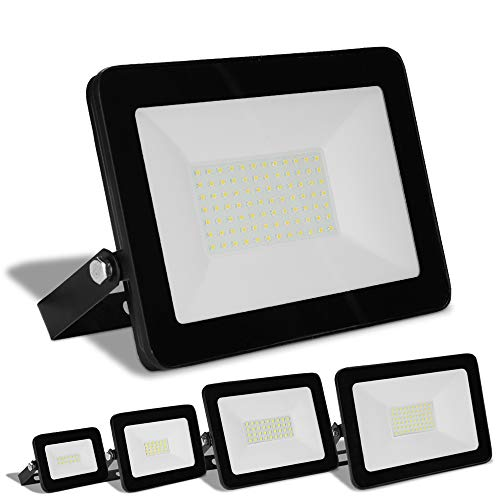 Hengda 5er 20W LED Strahler, 1700LM superhell LED Fluter IP65 wasserdicht Kaltweiß LED Außenstrahler Flutlicht für Hof Garten Garage