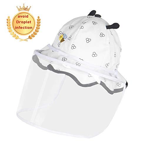 MALY Cap bébé Anti Enfants, Go Out Home Essentials Boy Bonnet de Douche Protection de Baseball Maman Non Leaking pour prévenir Gouttelettes Anti Fog Cap UV,Blanc,50cm