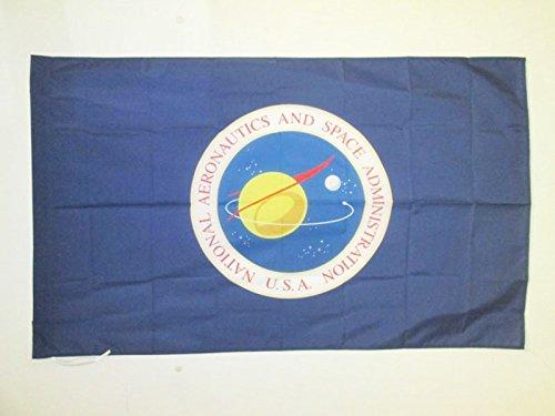 AZ FLAG Bandera de la NASA DE Estados Unidos 150x90cm para Palo - Bandera ADMINISTRACIÓN Nacional DE LA AERONÁUTICA Y del Espacio 90 x 150 cm