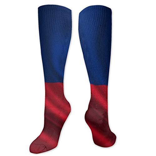 Compressie sokken voor mannen en vrouwen - het beste voor hardlopen, atletische sporten, spataderen, Travel-Liechtenstein vlag