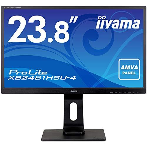 マウスコンピューター iiyama モニター ディスプレイ XB2481HSU-B4 (23.8インチ/フルHD/AMVA/HDMI,D-sub,DisplayPort/昇降/ピボット)