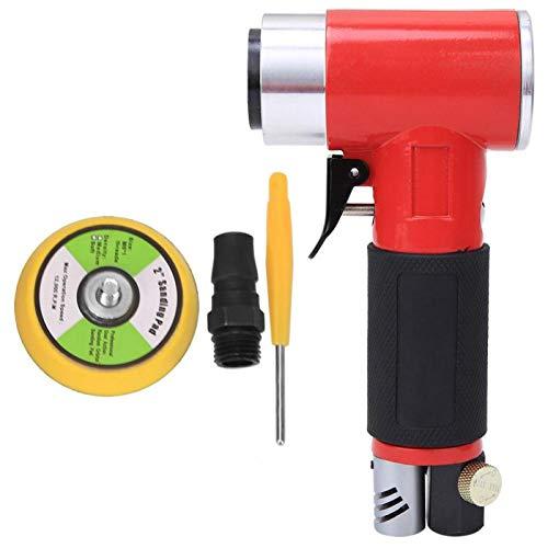Pulidora neumática, pulidora de aire, disco de pulido de 2 pulgadas, 15000 rpm con regulación de velocidad continua de conexión rápida M6(Eccentric core)