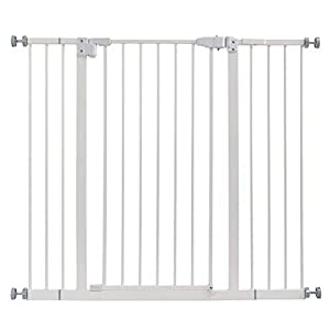 42″ Auto Close Extra Tall Baby Gate,Walk Thru Safety Gate Dog Pet Pressure Mount Gate for Stairs,Doorways, Banister,Dual Locking.Includes 4″ & 6″ Extension,36″ High