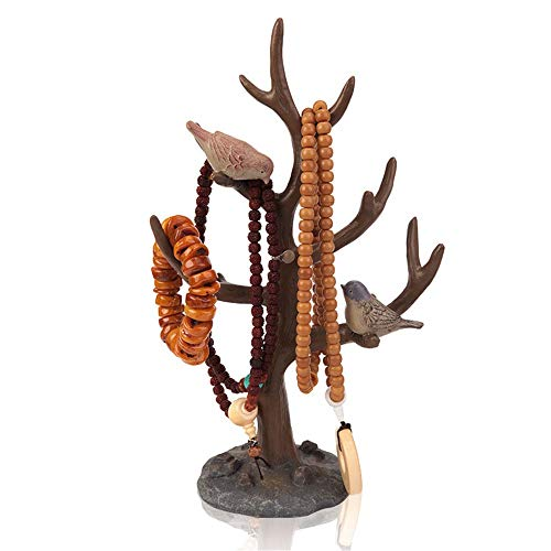 Chengzuoqing Expositor de Joyas Anillo Estante de Almacenamiento Soporte de exhibición Joyería Collar Creativo Pulseras de joyería para joyerías caseras (Color : Brown, Size : 20x33cm)