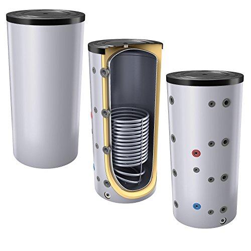 500L Pufferspeicher / Heizungsspeicher - Warmwasserspeicher für Heizungswasser, mit 1 Wärmetauscher (auch als Solarspeicher geeignet), inkl. Isolierung. Für Trinkwasser siehe emaillierte EWS8B Reihe.