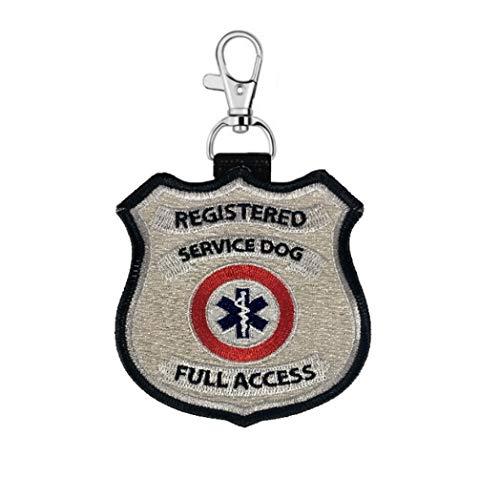 "WORKINGSERVICEDOG.COM ""Registered Service Dog"" Clip on Identification Hanging Patch Tag – Clips onto a Service Dog Vest, Harness, Collar, Leash or Carrier."