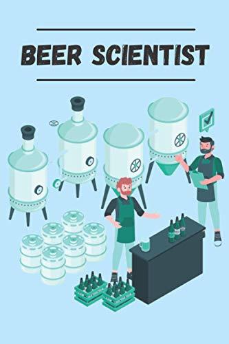 Beer Scientist: Carnet de Brasserie pour 50 bières, 15,24 x 22,86 cm | Ce carnet est parfait pour les professionnels et les amateurs de bière, ... permettre de noter un maximum d'informations