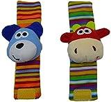 Spielzeug 1 Stück/Set Baby Handgelenk-Rassel Socken Baby Puzzle Handgelenkband Spielzeug Armband (1), Farbbezeichnung: Socken (1) JXNB (Farbe: Armband (1))