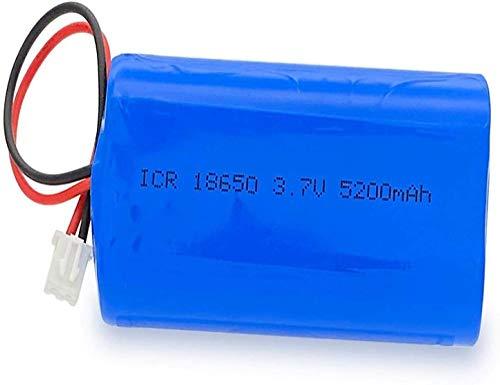Batería Recargable Electrónica 3,7 V 18650 5200 Mah Batería De Litio Batería Recargable Led Luz De Pesca Altavoz Bluetooth con Enchufe Xh2.54-2P-1Pc