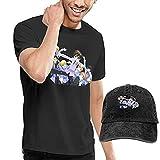Camisetas de Hombre + Sombrero de Vaquero Ouran High School Host Club Cuello Redondo Manga Corta Sencillo y práctico