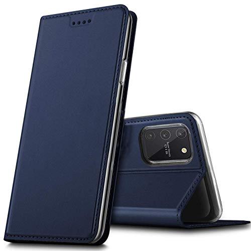 Verco Handyhülle für Samsung Galaxy S10 Lite, Premium Handy Flip Cover für Samsung S10 Lite Hülle [integr. Magnet] Book Hülle PU Leder Tasche, Blau