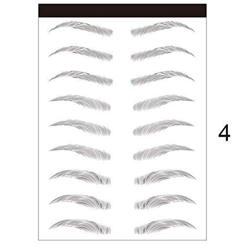 LHDDWY 3D Stick-On Wenkbrauwen Sticker, Wenkbrauwen Stencils Eye Brow Make-up Decal, Wenkbrauw Grooming Sjabloon voor Vrouwen Meisjes