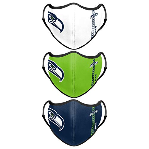 Seattle Seahawks NFL Sport 3 Pack Face Cover