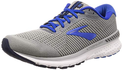 Brooks Mens Adrenaline GTS 20 Running Shoe - Grey/Blue/Navy - D - 11.0