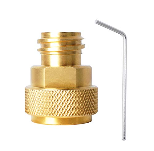 Swess CO2-Umwandlungsadapter für Soda-Maschine und Paintball-Tankkanister mit L-Schlüssel CO2-Tank Paintball-Kanister Nachfülladapter (Gold)