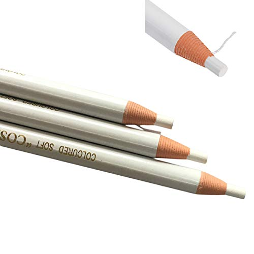 Microblading White Color Eyebrow Peel-off Pencil WaterProof Marker Liner Pen for Microblading Marking Outlining and Permanent Makeup Marking Tattoo Marking (White-6pcs)