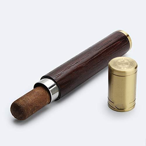 BOC Humidor de Puros, Cajas de Cigarros - el Manguito Herramienta Portátil con un Higrómetro Humidificador,A,Caja