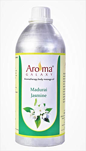 Aroma Galaxy Madurai Jasmine Aromatherapy Body Massage Oil, Stress Relief for Body - Suitable for Men, Women & Kid's - 1 Litre Bottle