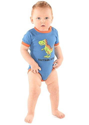 LazyOne Garçon Teething Bites Body Bebe Vest - Bleu - Taille Enfant - 6 mois