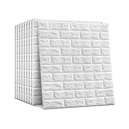 Yorking 20 Stück 3D Wandpaneele Selbstklebend Tapete Steinoptik Ziegelstein Wandaufkleber Wasserfest Wandverkleidung für Küche, Kinderzimmer, Wohnzimmer, 70x77cm
