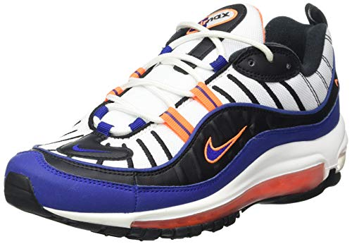 Nike Herren Air Max 98 Laufschuh, White Deep Royal Blue Total Orange Black, 40 EU
