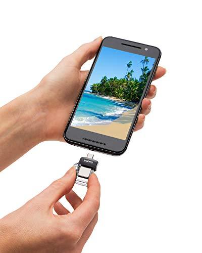 SanDisk Ultra Dual USB-Laufwerk m3.0 Smartphone Speicher 128 GB (Mobiler Speicher, USB m3.0, versenkbarer Doppelanschluss, 150 MB/s Übertragungsraten, USB 3.0 Stick)