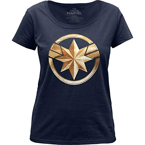 Captain Marvel Badge - Maglietta girocollo da donna - blu - XX-Large