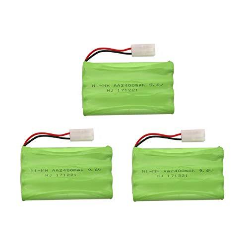 RFGTYH Grupo teledirigido de la batería AA de Las instalaciones de Seguridad del Juguete de 9.6V 2400mAh 3PCS