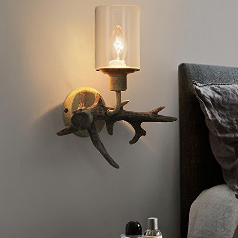 YONG FEI Wandlampen Wohnzimmer Schlafzimmer rustikale amerikanische Land Restaurant Vintage Persnlichkeit Nachttisch Harz Wandlampe Beleuchtung zu Hause