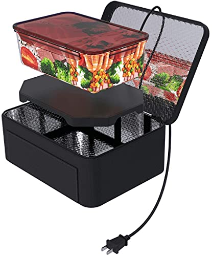 Portable Food Warmer - 220V Heated Lunch Boxes for Adults - Mini Oven Personal Microwave Tote - Prepared Meals Reheat & Raw Food Slow Cooker in Home/Office/Kitchen