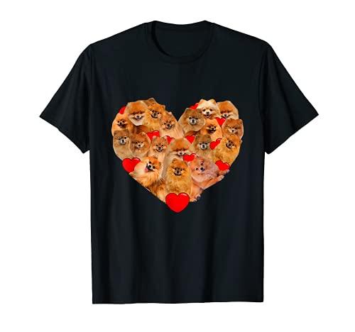 Regalo divertido del día de San Valentín de Pomerania Camiseta