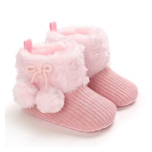 Youpin Baby First Walkers - Botines unisex de forro polar sintético para recién nacido, cálidos, para invierno, para cuna, zapatos clásicos (edad de bebé: 7 y 12 meses, color: D2)