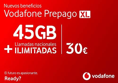 Vodafone Prepago XL 45GB + Llamadas Ilimitadas Roaming Europa y EEUU