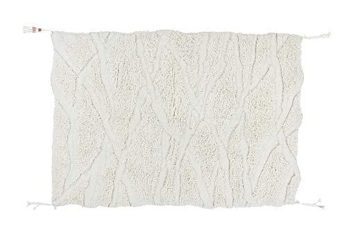 Lorena Canals Alfombra Lavable WOOLABLE Enkang Ivory - Natural - Pila: 100% Lana Base: Algodón Reciclado - 170x240 cm