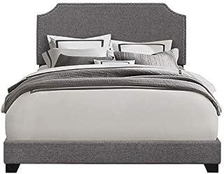 Pulaski Gray Clipped Corner Upholstered Bed, King
