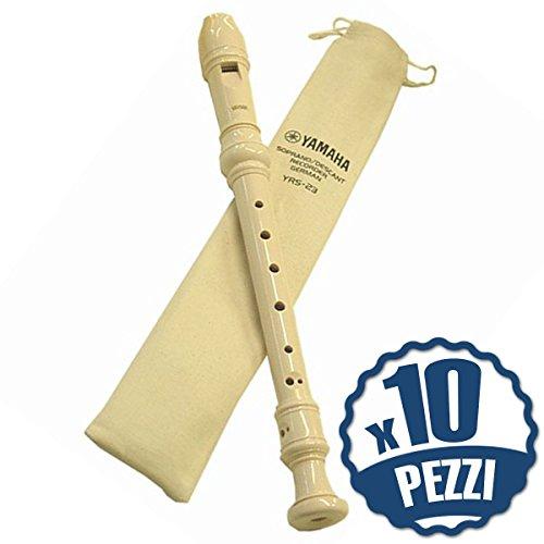 YAMAHA YRS23-10 Flauti Didattici Dolci Bundle Speciale Scuola