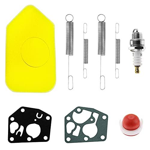 Kit de bombilla de imprimación de diafragma de junta de filtro de aire de resorte de 9 piezas, resortes de gobernador de motores con diafragma de carburador, reemplazo general